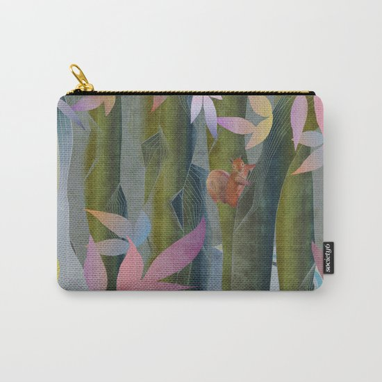 Autumn by a Waterfall Carry-All Pouch
