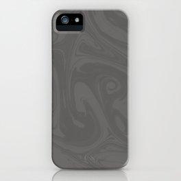 Pantone Pewter Gray Abstract Fluid Art Swirl Pattern iPhone Case
