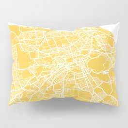 Edinburgh map yellow Pillow Sham