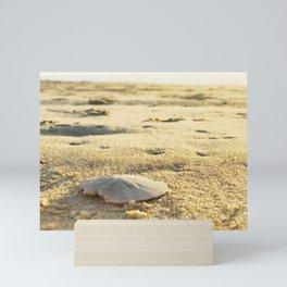 Sand Dollar on the beach | Rehoboth Beach, DE Mini Art Print
