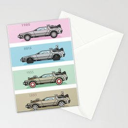 Back to the Future - Delorean x 4 Stationery Cards