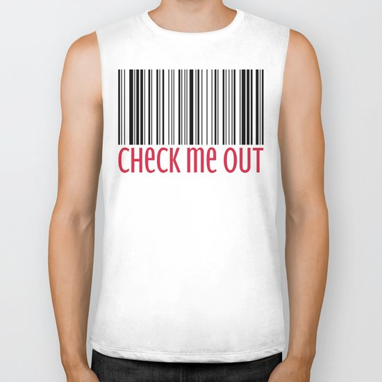 Check Me Out Funny Quote Biker Tank