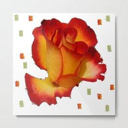 V Rose   (A7 B0089) Metal Print