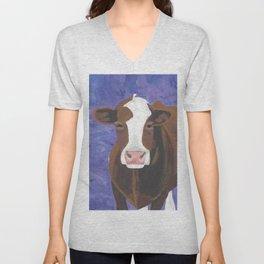 A Cow Named Beulah Unisex V-Neck