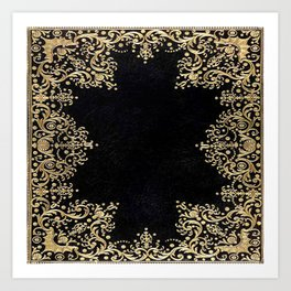 Black and Gold Filigree Kunstdrucke