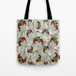 Double Apples White Mushrooms Tote Bag