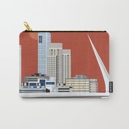 Buenos Aires, Argentina - Skyline Illustration by Loose Petals Carry-All Pouch