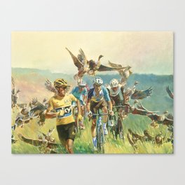 'Froome Chasing Geese. Tour de France 2016' Canvas Print