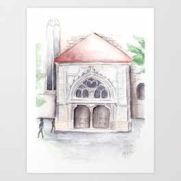 Black church Art Print