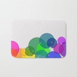 Translucent Rainbow Colored Circles Digital Illustration - Multi Colored Artwork Bath Mat
