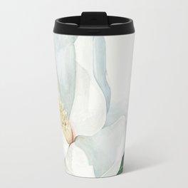 Watercolor Magnolia Blossom Travel Mug