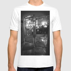 backstage MEDIUM Mens Fitted Tee White