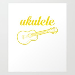 It's a Ukulele Thing, You Wouldn't Understand Funny T-shirt Art Print