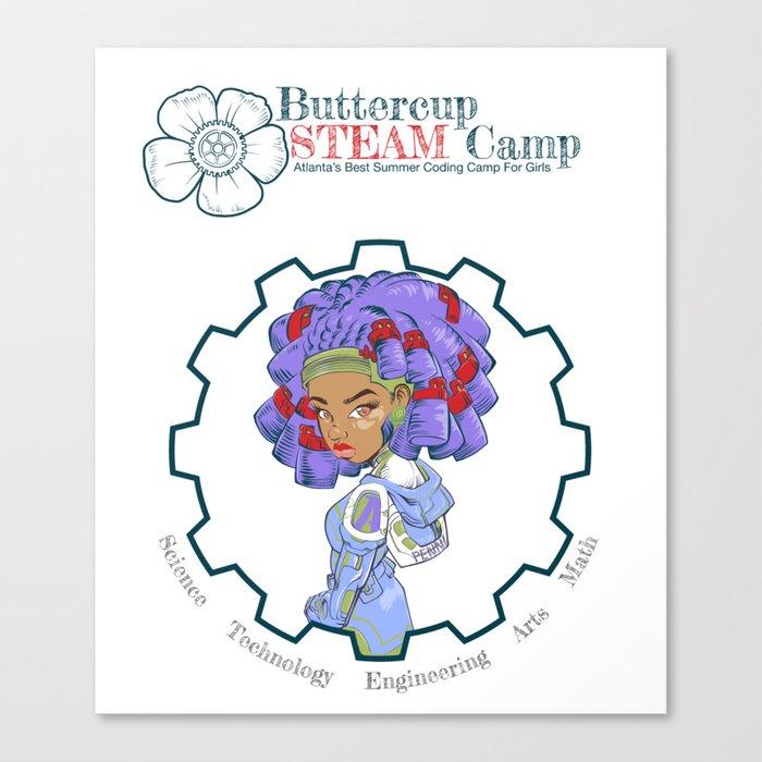 ButtercupSTEAM Locks Canvas Print