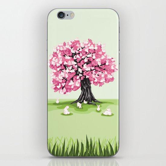 Bunny Blossom Tree iPhone & iPod Skin
