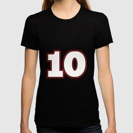 """Jersey number 10 """"ten"""" football, handball gift T-shirt"""