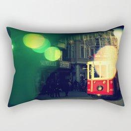 colorful tram in Istanbul Rectangular Pillow