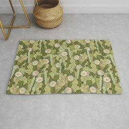 Cacti Camouflage, Floral Pattern, Khaki Olive Rug