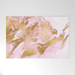 Rose Gold Mermaid Marble Welcome Mat