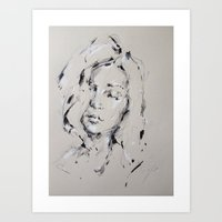 audrey Art Prints featuring Audrey by Oriane Jouët