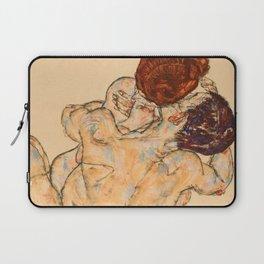 """Egon Schiele """"Mann und Frau (Umarmung)"""" Laptop Sleeve"""