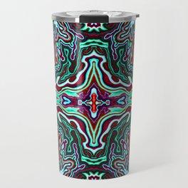 Abstract #4 - V - Mint Green Red Travel Mug