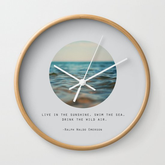 Swim The Sea Wall Clock
