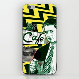 """Twin Peaks Agent Cooper """"A Damn Fine Cup of Coffee iPhone Skin"""