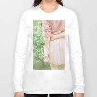 peach Long Sleeve T-shirts featuring Peach by Mariam Sitchinava