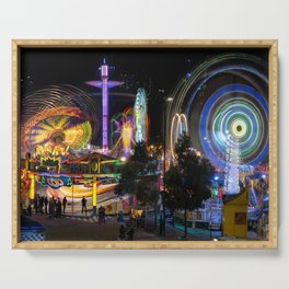 Fairground Attraction panorama Serving Tray