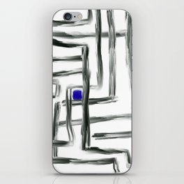 Small Square and Blue iPhone Skin