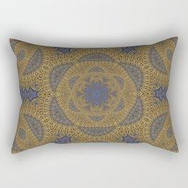 Goldblue Mandalic Pattern 4 Rectangular Pillow