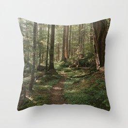 Wonderland Forest Trail Throw Pillow