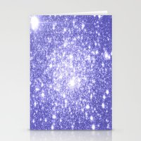 lavender Stationery Cards featuring Lavender Periwinkle Sparkle Stars by WhimsyRomance&Fun