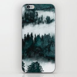 Foggy Forest Fun - Turquoise Mountains iPhone Skin