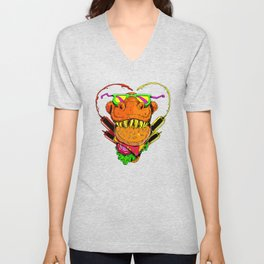 Food Face Unisex V-Neck