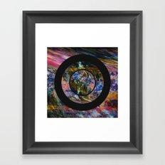 Space Marble Framed Art Print