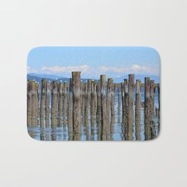 LOW TIDE ILLUSIONS AND MOUNT BAKER NEAR ANACORTES NORTHWEST Bath Mat