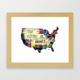 Stop Testing On Animals in the United States Framed Art Print