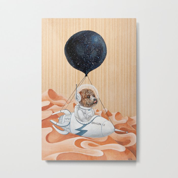 Poodle dog - Mission to Mars - Spacex - Space dog Metal Print