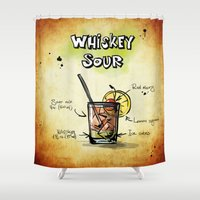 whiskey Shower Curtains featuring Whiskey Sour by jamfoto