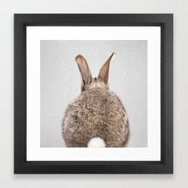 Rabbit Tail - Colorful Framed Art Print