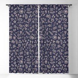 Symbolic Confetti - (Navy) Blackout Curtain