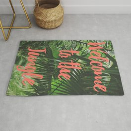 Welcome to the Jungle Poster Rug