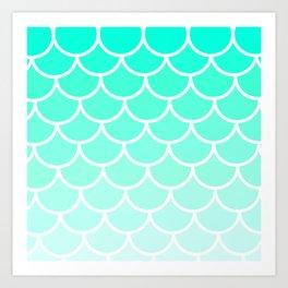 Modern Turqupose Scales Art Print