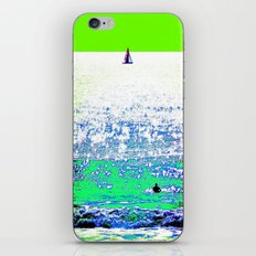 Sailboat and Swimmer (2b) iPhone & iPod Skin