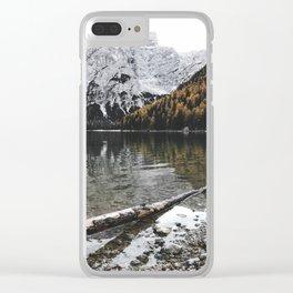 braies lake Clear iPhone Case