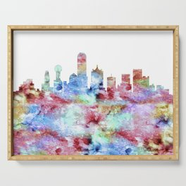 Dallas Texas Skyline Serving Tray