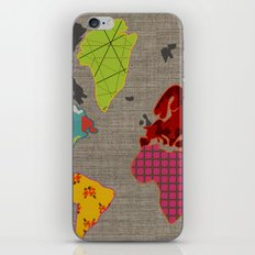 Simi's Map of the World iPhone & iPod Skin