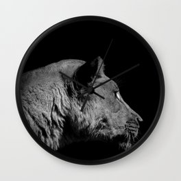 Lioness Wall Clock